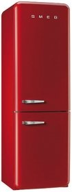 (Smeg FAB32URDRN 50s Syle Bottom Freezer 11.7 Cubic Feet Red Right-hand Refrigerator)