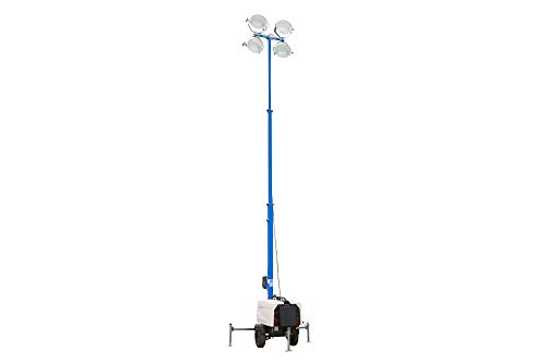 25' Metal Halide Telescoping Light Tower - Water Cooled Diesel Engine - 4 Stage - Electric Winch