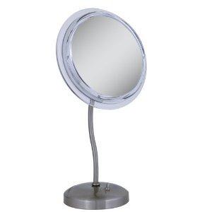 Surround Light Pedestal (Zadro Surround Light S-Neck Pedestal Satin Nickel Vanity Mirror)