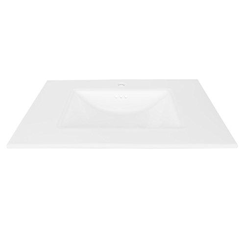 "MAYKKE Brighton 31"" Ceramic Bathroom Vanity Sink Top with Single Faucet Hole in White YSA1073103 delicate"