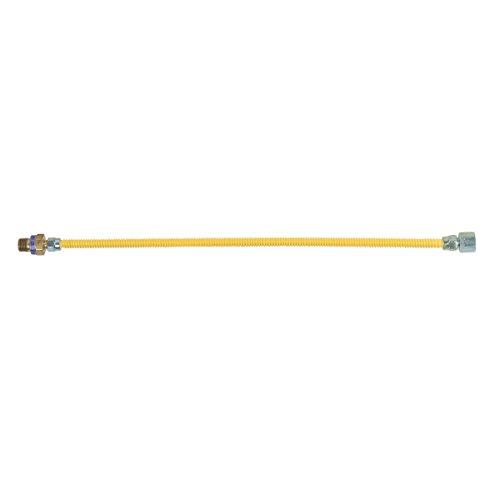 BrassCraft CSSL115R-24 P Safety Plus Gas 3/8'' Od Connector With 3/8'' Female Flare Efv x 1/2'' Fip x 24'' by BrassCraft