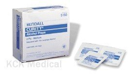 CURITY Alcohol Prep Pad - Medium - 2-Ply Wipe - Box by Kendall/Covidien