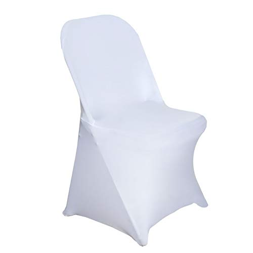 - Mikash 12 pcs Spandex Stretchable Folding Chair Covers Slipcovers Wedding Decorations | Model WDDNGDCRTN - 11573 |