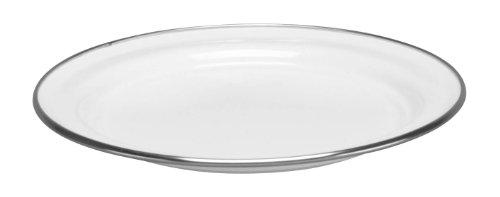 Cinsa 312005 Trend Ware Enamel on Steel Dinner Plate, 8-1/2-Inch, White