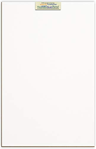 (10 Sheets Chipboard 24pt white 1 side - 12