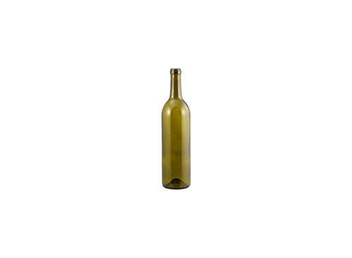 Wine Bottles - 750 mL Antique Green Claret - Punted - Case of 12 ()