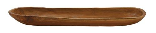Wooden Colored Bowl (Deco 79 39184 Teak Wood Ship Bowl, 27