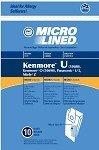 36 Kenmore Type U Allergen Filtration Vacuum Bags for Kenmore Vacuums, 54322