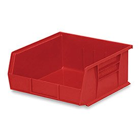 Akro-Mils 30235 Plastic Storage Stacking Hanging Akro Bin, 11-Inch by 11-Inch by 5-Inch, Red, Case of 6