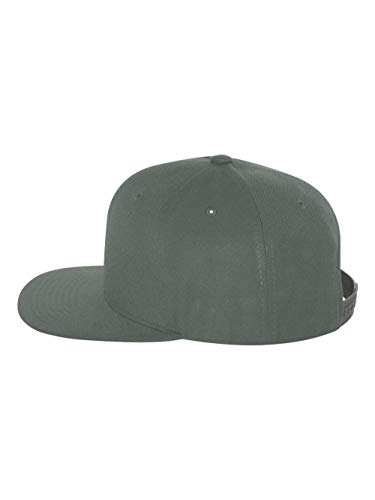 Yupoong 6089 6-Panel Structured Flat Visor Classic Snapback - Grey - One ()