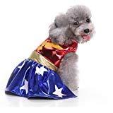 Bello Luna Pet Costumes Dog Hero Super Woman Dress Clothes]()