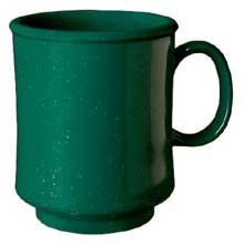 8 Ounce Stacking Mug - GET Enterprises inc Kentucky Green Centennial Series Styrene Acrylonitrile Stacking Mug, 8 Ounce -- 24 per case.