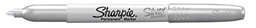 Sharpie Metallic Permanent Markers, Fine Tip, Silver, Pack of 12 (Sanford Lp Sharpie)