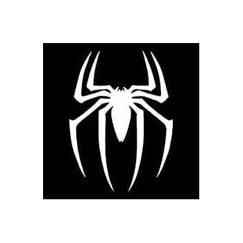 Spiderman spider logo vinyl decal stickercars trucks vans walls laptopswhite5 5