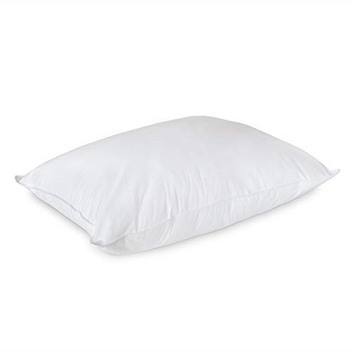 DOWNLITE Luxury Firm Density White Goose Down Pillow - Hotel Luxury Bedding Collection - Perfect for Side Sleepers (Standard)