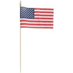 Bulk Buy: Independence Flag (12-Pack) American Hand Flag (Economy No Sew) 8in. x 12in. R408 by Independence Flag