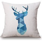 [Deer Pillow Covers ,best For Relatives,monther,play Room,lover,bedroom,her 20 X 20 Inches / 50 By 50 Cm(double] (Contour Designs Costumes)