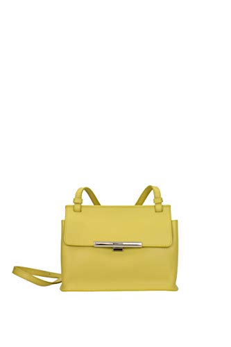 Piel bandolera Mujer 43730 Lancaster Bolsos Amarillo con BO6npRIx