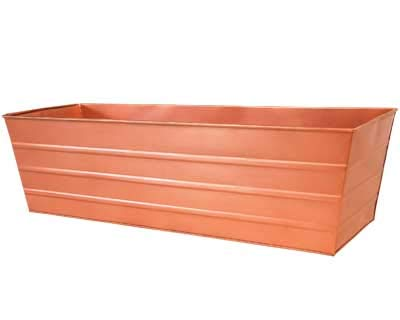 BestNest Achla Designs Copper Plated Flower Box, Large, 35.25