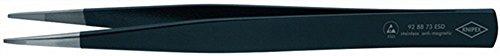 Präzisionspinzette L.130mm eckige Spitzen ESD Knipex