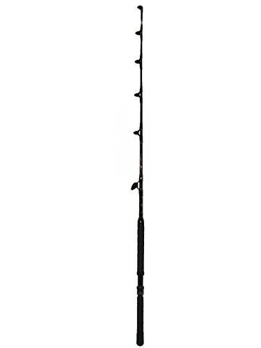 Saltwater Fishing Rod Custom Blue Marlin Tournament Edition Wind on Leader Guides 30 to 50 Pound Class Pole Trolling