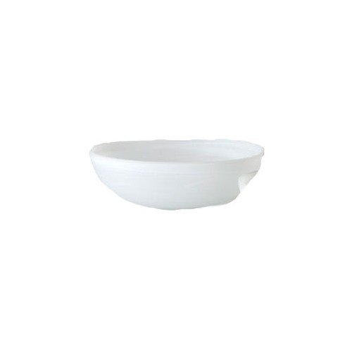 Shiraleah Large White Frosted Alabaster Shallow Round Bowl ()