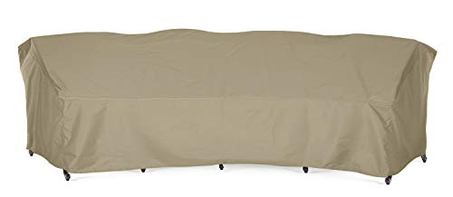 SunPatio Outdoor Crescent Curved Sectional Sofa Cover with Seam Taped, 150