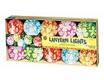 Amscan (240791) Hawaiian Summer Luau Beach Round Lantern Light Set with White Hibiscus Party Supplies (6), 6 Pieces