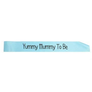 Performance Mummy - Baby Shower Party Satin Sash Banner Ribbon New Mummy To Be/Grandma/Auntie/Nanny - Festival Gifts & Party Supplies Stage Performance Props - (Yummy Mummy To Be(Blue))