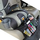 Baby Car Seat Seat Protector W/Foam Core Protection & Storage Pockets (1 Seat) By CTAUSA