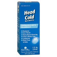 - NatraBio Head Cold Non-Drowsy - 1 fl oz