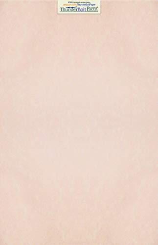 50 Light Pink Parchment 60# Text (=24# Bond) Paper Sheets - 11