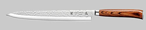 Tamahagane SAN Tsubame Stainless Steel Pakkawood Sashimi Knife, 10.5-Inch
