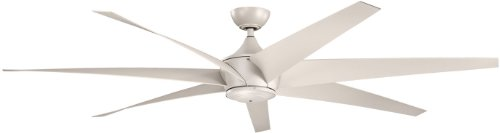 "Kichler 310115ANS, Lehr Antique Satin Silver 80"" Outdoor Ceiling Fan with Remote Control"