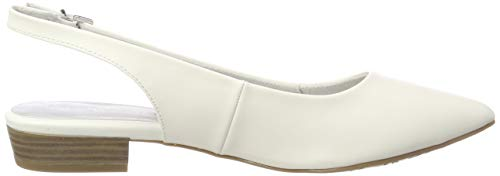 Tamaris De Blanco Matte 1 Zapatos 108 Talón 1 Mujer 22 Para Abierto white 29402 XrxXv7