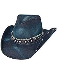 Montecarlo Bullhide Hats BETTER THAN YESTERDAY Denim Western Cowboy Hat (Medium) ()