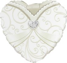 Caseta de globo aerostático/de boda/Globo Aire de novia en color blanco –