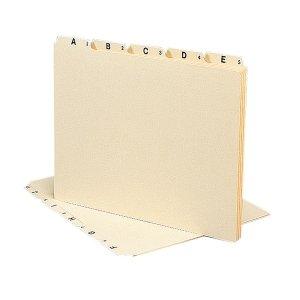 Smead A-Z Manila Self Tab File Guides,25 x Tab Printed A - Z - 5 Tab(s)/Set - 8.5