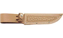 SH211 Natural Leather Fixed Blade Knife Sheath for 5″ Knife