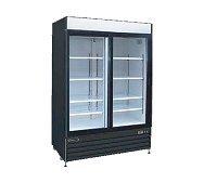 2 Glass Door Cooler Merchandiser 36 Cu Ft Kool-It KSM-36