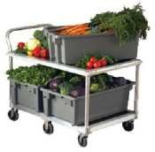 New Age 1410 Mobile Wet Produce Cart 29