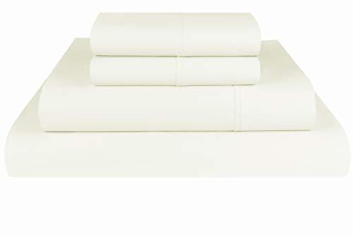 - Threadmill Home Linen 1200 Thread Count 100% Supima ELS Cotton Sheet Set, King Sheet, Super Luxury Bedding, King 4 Piece Set, Ivory, Smooth Sateen Weave.