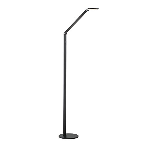 Bk Black Dimmers Dimmer (Savoy House Fusion LED Floor Lamp with Dimmer in Black)
