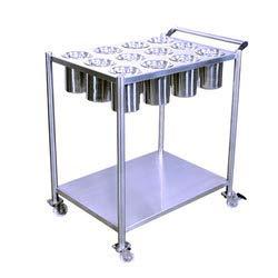 Vigneshwara Stainless Steel Masala Trolley 362435
