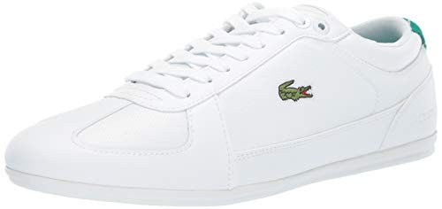 Lacoste Men's EVARA Sneaker, white/green, 10 Medium US ()