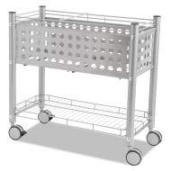 Vertiflex Smartworx File Cart, One-Shelf, 28 1/4w x 13 3/4d x 27 3/8h, Matte Gray - VF52000