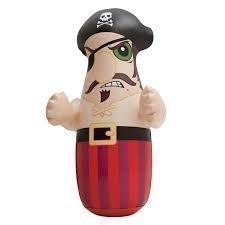 Saco de Boxeo Inflable Porfiado Intex Para Niños Pirata 3D Juego Para Exteriores e Interiores