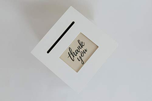 Custom Print with Ivory Wedding Card Box