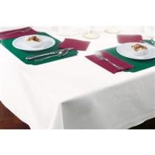 Hoffmaster 8108-W Linen-Like White Table cover, Banquet Size 50 x 108 inch -- 24 per case. by Hoffmaster