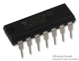 TEXAS INSTRUMENTS CD4071BE IC, Quad OR Gate, 2I/P, 60NS, DIP-14 (Pack of 5) (And Gate Ic)